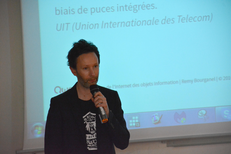 """RVChaireRSOC """"Design et Internet des Objets"""", Intervention de Rémy Bourganel de Qwant"""